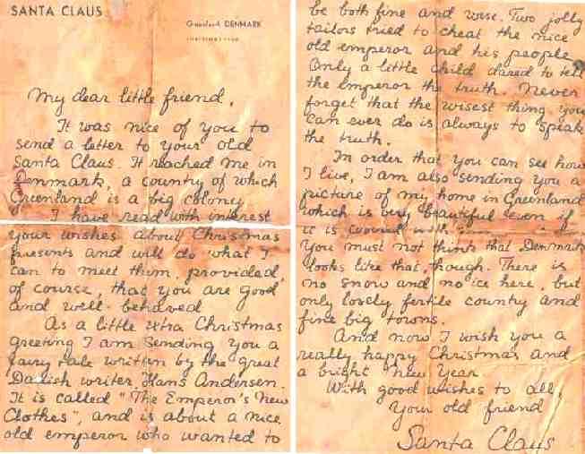 Santas letter text of letter santa claus spiritdancerdesigns Image collections